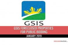 66 GSIS Foreclosed Properties scheduled for sale via 2 public biddings in January 2019