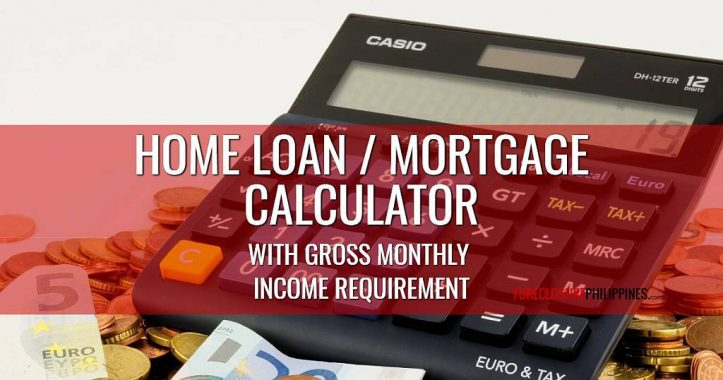 home loan and mortgage calculator with gross monthly income