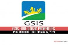 41 GSIS Foreclosed Properties in Bulacan scheduled for public bidding on February 12, 2019
