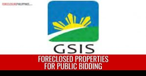 199 GSIS Foreclosed Properties scheduled for public bidding in May 28 and June 4, 2019
