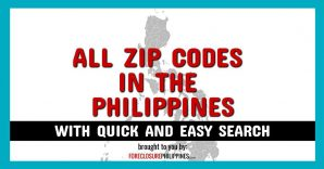All Zip Codes in the Philippines (with quick and easy search)