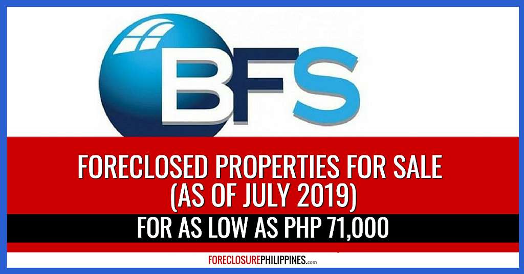 Only 450 BFS Foreclosed Properties Remain For Sale in July 2019