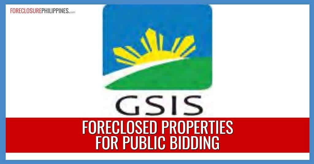 167 GSIS Foreclosed Properties in September 10 and October 8