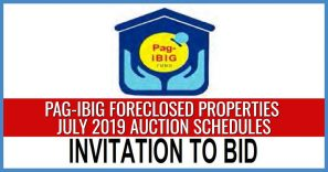 1,314 Pag-IBIG foreclosed properties for auction in July 2019