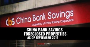 First Look: China Bank Savings Foreclosed Properties For Sale (September 2019)