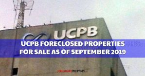 412 UCPB Foreclosed Properties included in September 2019 listing