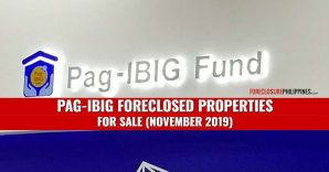 5,027 Pag-IBIG foreclosed properties for sale in November 2019 (via Public Auction and Negotiated Sale)