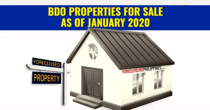 BDO foreclosed properties for January 2020