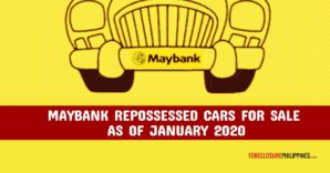 Maybank Repossessed Cars for sale in January 2020 via Sealed Bidding