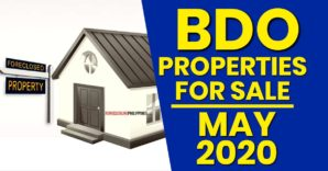 842 BDO Foreclosed Properties available in May 2020 Nationwide Listing