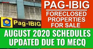(2nd update) 1,357 Pag-IBIG foreclosed properties for negotiated sale in August 2020 listings