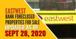 154 EastWest Bank foreclosed properties for sale (September 2020)