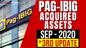 (3rd Update) September 2020 Pag-IBIG foreclosed properties for sale