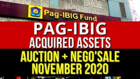 1,506 Pag-IBIG Foreclosed Properties in November 2020 (Public Auction + Negotiated Sale)