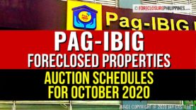 Pag-IBIG resumes paublic auctions in October 2020