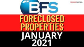 1,412 BFS Foreclosed Properties in January 2021 Nationwide Listing