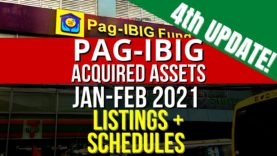 [4th Update] 4,855 Pag-IBIG Foreclosed Properties in January-February 2021 Public Auction + Negotiated Sale Listings