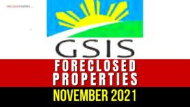 GSIS Foreclosed Properties Bidding Slated on November 10 and 24, 2021
